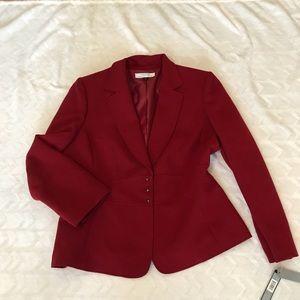 Tahari Sangria Red career jacket